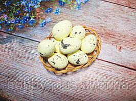 Великодній декор, яйця пінопластові 4 см, колір ЛИМОННИЙ 1 шт