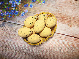 Великодній декор, яйця пінопластові 4 см, колір БЕЖЕВИЙ, 1 шт