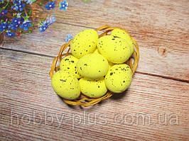 Великодній декор, яйця пінопластові 4 см, колір ЖОВТИЙ, 1 шт