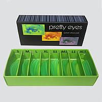 Набор зелёных валиков для ламинирования ресниц Pretty Eyes, 8 пар