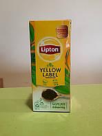 Чай Lipton Yellow Label Tea 25 пакетиків чорний, фото 1