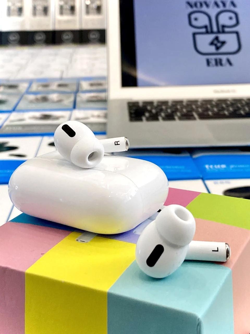 Беспроводные Bluetooth наушники AirPods PRO с кейсом и сенсором, белые