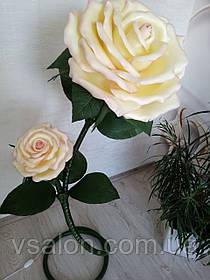 Ростовые цветы из изолона, светильник ростовой с бутоном