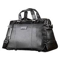 Дорожня сумка SHVIGEL 11120 шкіряна Чорна, Чорний