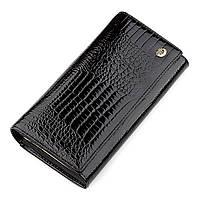 Гаманець жіночий ST Leather 18426 (S6001A) шкіряний Чорний, Чорний, фото 1