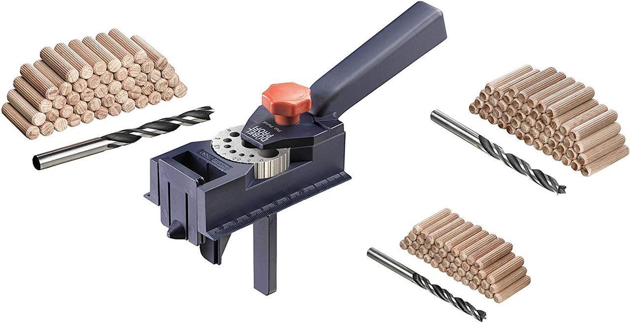 Кондуктор для сверления отверстий 3-12 мм со шкантами и свёрлами КWB DUBELPROFI