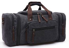 Дорожная сумка текстильная Vintage 20080 Черная