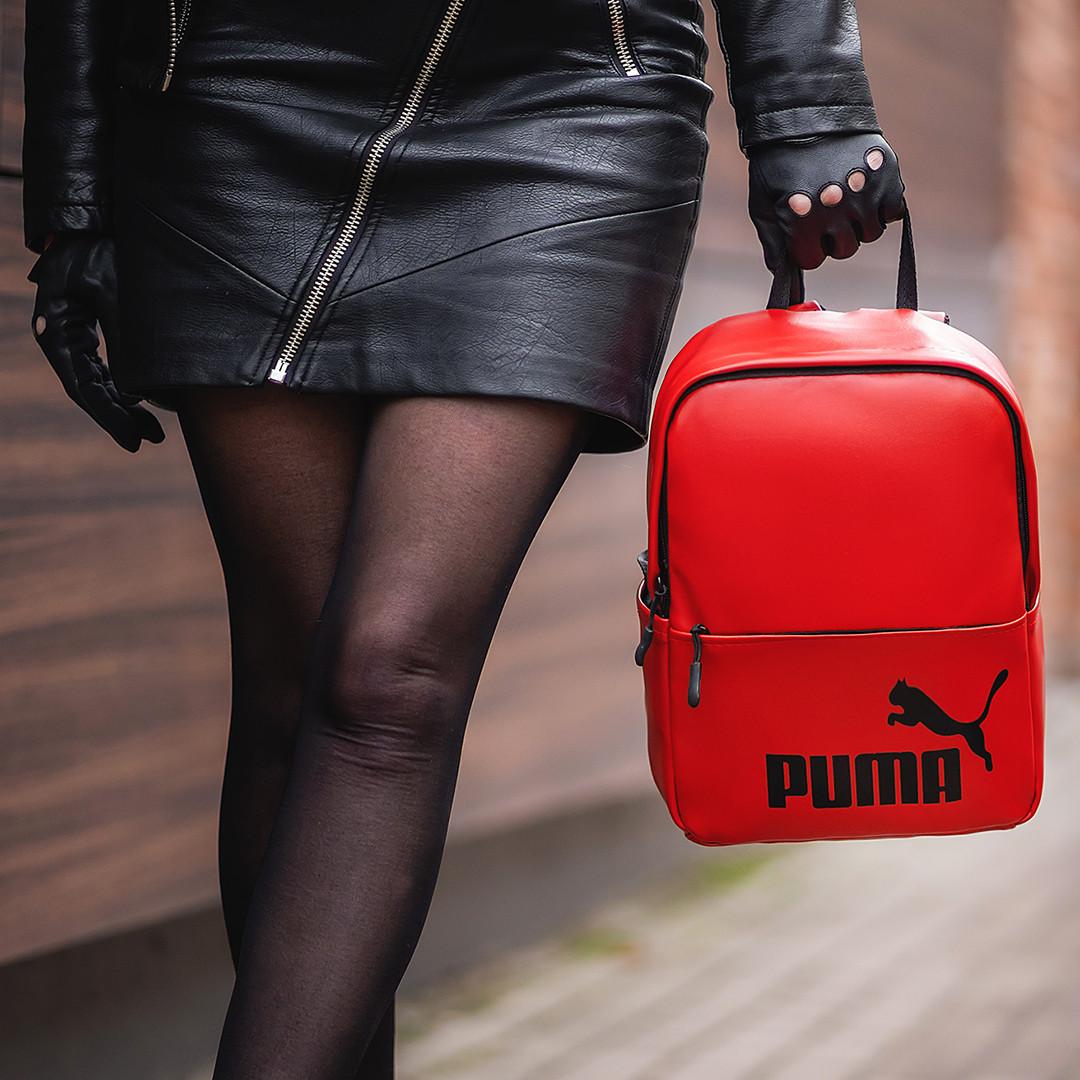 Стильний жіночий міні рюкзак з еко-шкіри, модний міні рюкзачок для дівчат, колір червоний