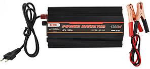 Преобразователь напряжения(инвертор) UKC 12-230V 1300W + USB с зарядкой аккумулятор Black (7060)