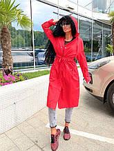 Женский тренч, плащёвка + подкладка, р-р универсальный 42-46; 48-52 (красный)