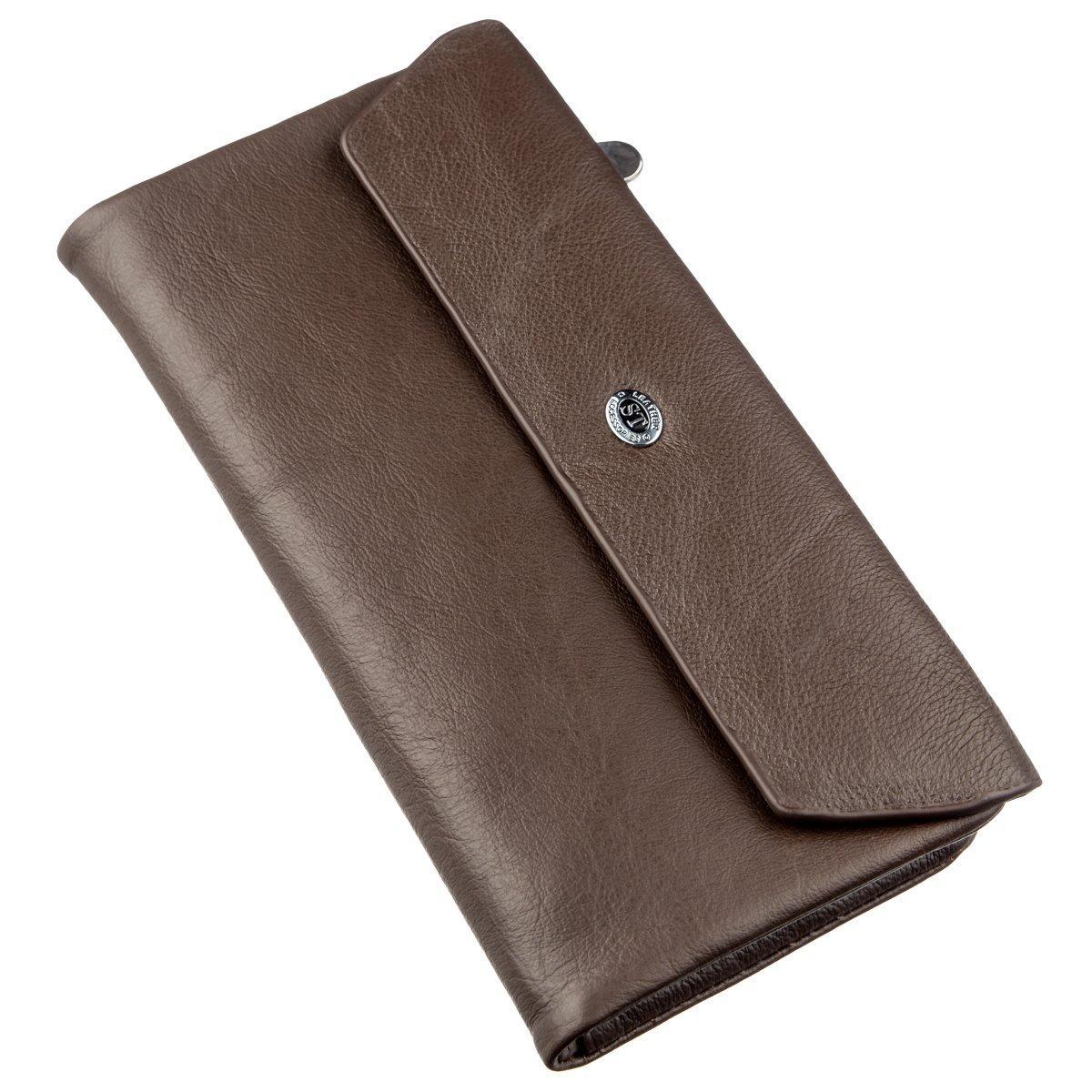 Практичный женский кошелек-клатч ST Leather 18841 Коричневый