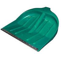Лопата снегоуборочная пластиковая с окантовкой, ручка, крепление 440х450, 40мм (6шт в уп) Лемира