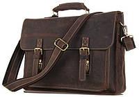 Портфель Vintage 14246 в винтажном стиле Коричневый