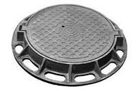 Люк каналізаційний чавунний важкий  94кг (25 тс)