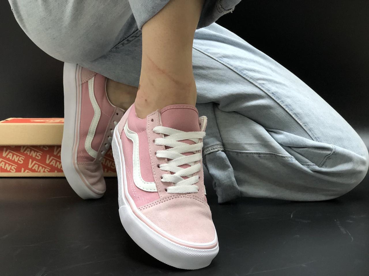 Рожеві жіночі Кеди Vans Old Skool