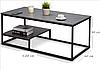 Журнальный столик в стиле Лофт 1200х600х500, ЖС02