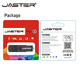 USB OTG флешка JASTER 64 Gb micro USB Цвет Голубой ОТГ для телефона и компьютера, фото 2