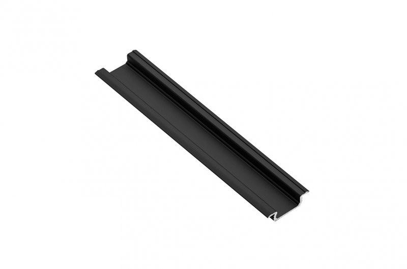 Профіль GTV LED врізний Чорний 2 м (під светод. стрічку)