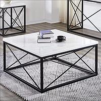 Журальний столик в стилі Лофт 900х900х450, ЖС05