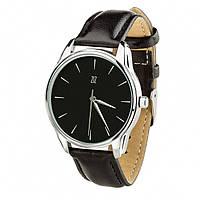 Часы Ziz Белым по черному, ремешок насыщенно-черный, серебро и дополнительный ремешок SKL22-142698