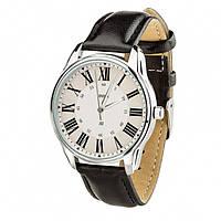 Часы Ziz Лондонский вокзал, ремешок насыщенно-черный, серебро и дополнительный ремешок SKL22-142619