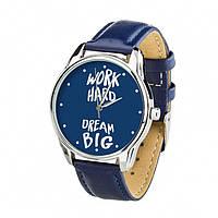 Часы Ziz Мечтай Работай с дополнительным ремешком, ремешок ночная синь, серебро SKL22-228877