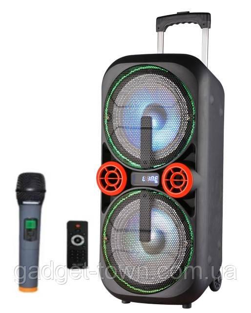 Акумуляторная колонка з мікрофоном UF-AR12QK 120W (FM/USB/Bluetooth)Супер звук!