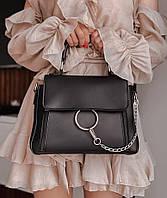 Сумка женская кросс боди стильная женская сумка черного цвета через плечо стильная новинка 2021 Rqf1, фото 1