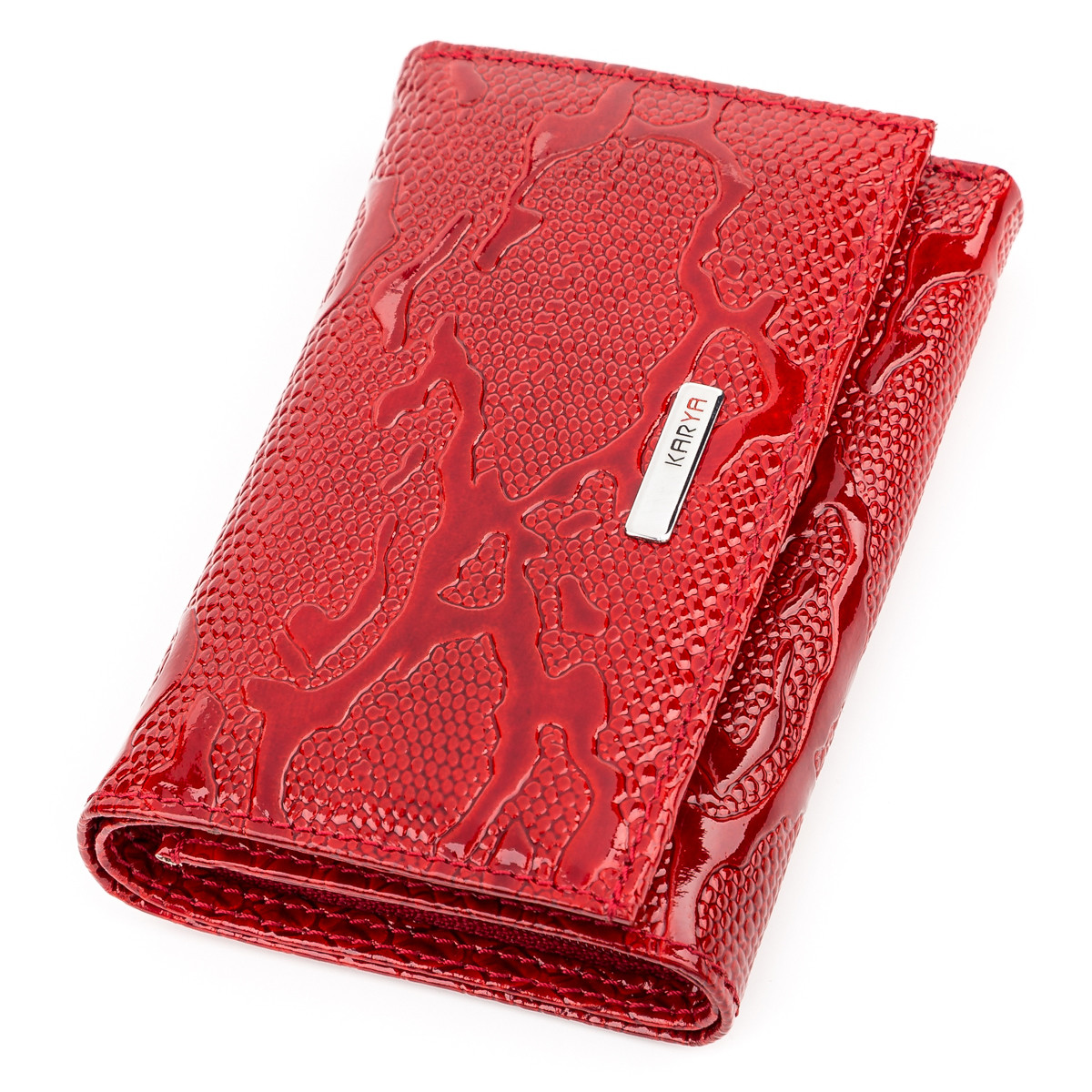 Кошелек женский KARYA 17171 кожаный Красный