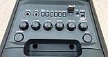 Портативная колонка с радиомикрофоном LiGE-2802 50W (FM/USB/Bluetooth) Супер звук!, фото 2