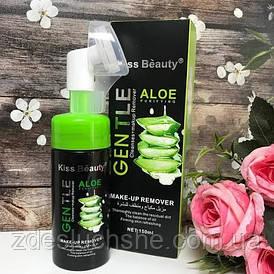 Пенка для умывания успокаивающая и очищающая Gentle Kiss Beauty Aloe со щеточкой 150 мл SKL11-276531