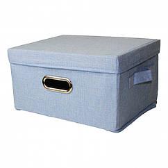Кошик для іграшок MR 0339-4(Blue) (20шт) ящик, коробка, 51-36-34см, в кульку,51-36-4см