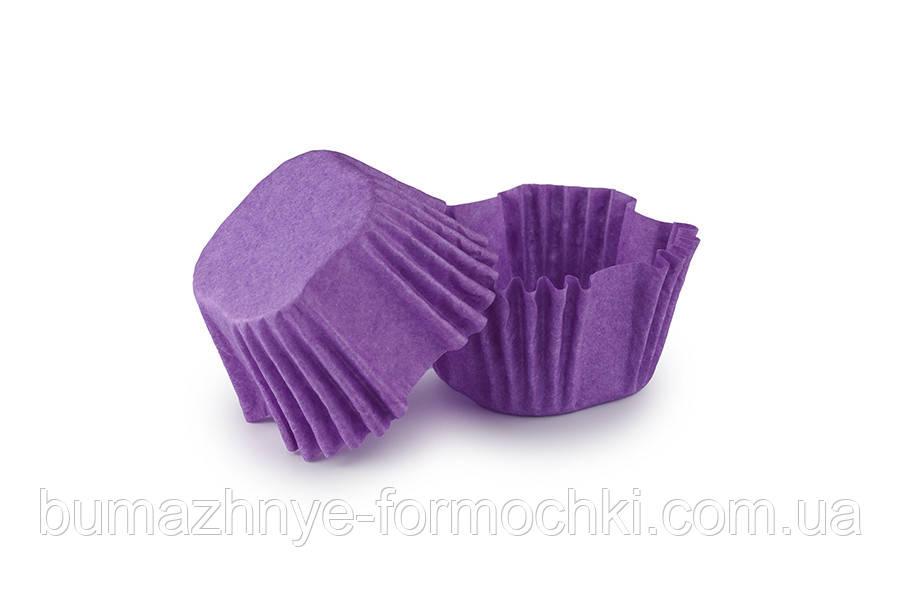 Квадратна паперова форма фіолетова, 27х27х22 мм