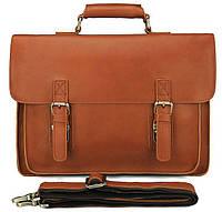 Кожаный портфель матовый Vintage 14937 Рыжий