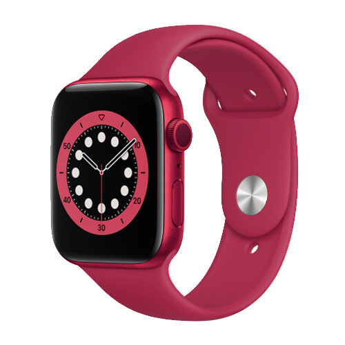 Смарт часы Apl Watch Series 6 M441, 100% копия 44mm Aluminium, беспроводная зарядка, умные часы цвет red