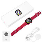 Смарт часы Apl Watch Series 6 M441, 100% копия 44mm Aluminium, беспроводная зарядка, умные часы цвет red, фото 7