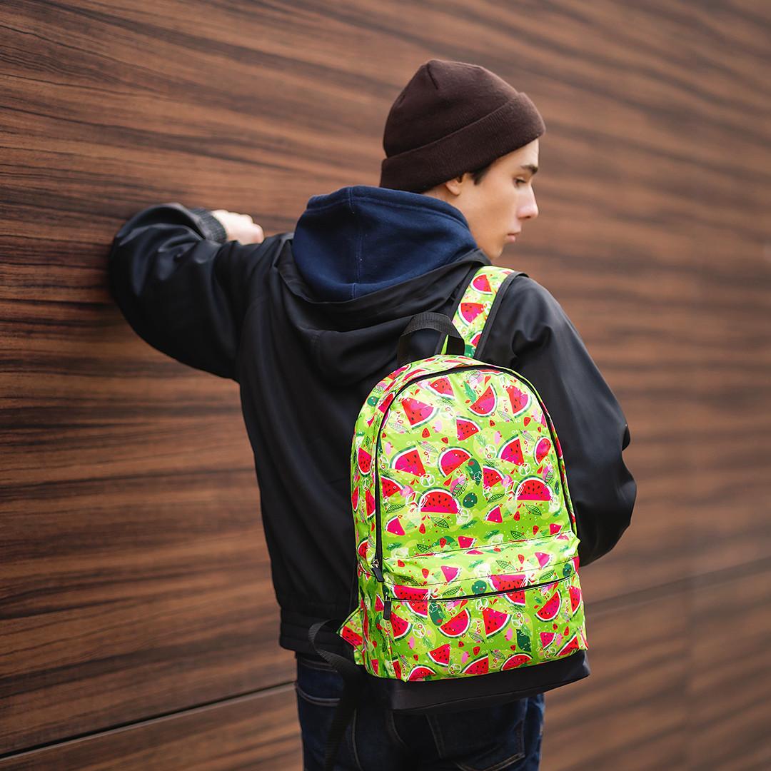 Городской стильный молодежный рюкзак Принт New