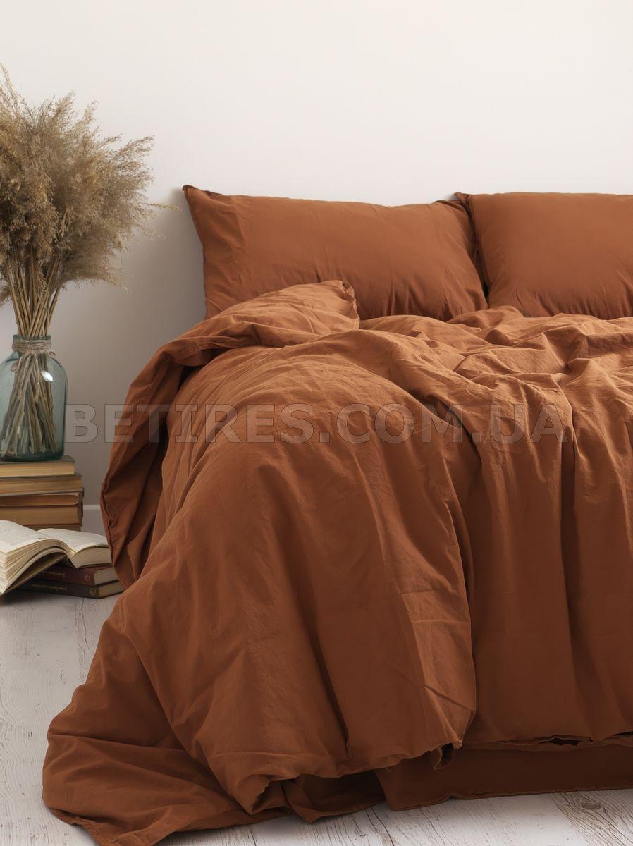 Комплект постельного белья 200x220 LIMASSO AUTOMNE STANDART терракотовый