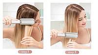 Гребінець-випрямляч для випрямлення і завивки в домашніх умовах Hair Straightener HQT-908/909 (WN-05) (40), фото 5