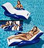 Надувное кресло шезлонг для плавания c ручками и подстаканниками: 180х135см (Intex 58868)