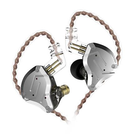 Гібридні навушники KZ ZS10 Pro з 5 випромінювачами (Чорний), фото 2