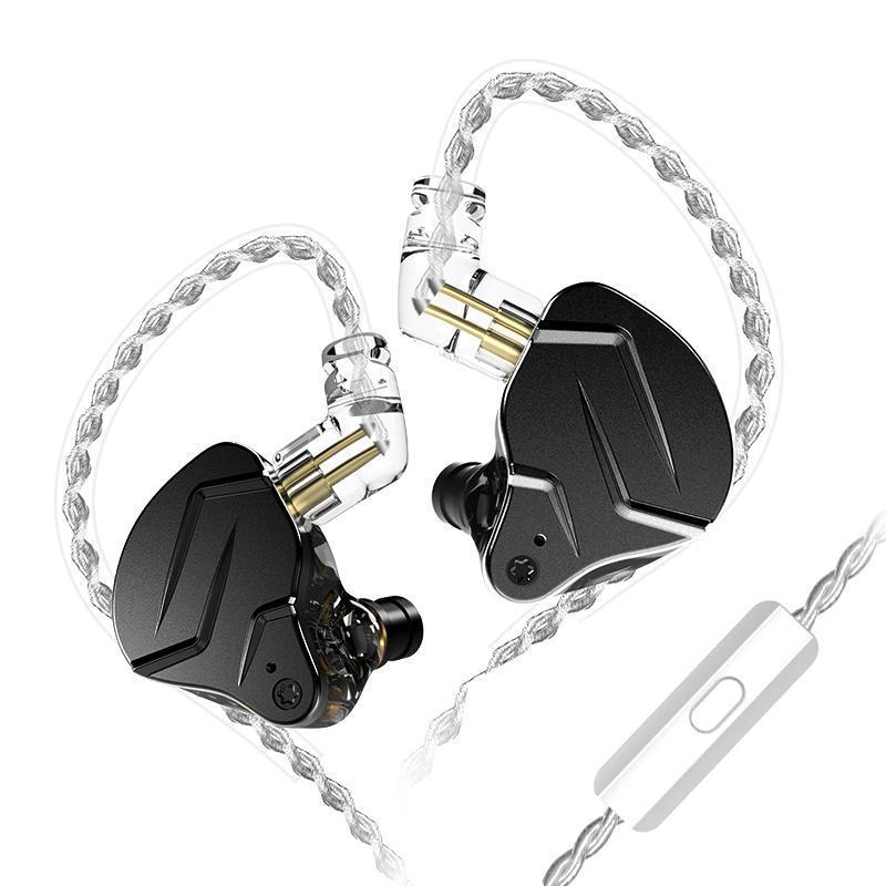 Гібридні навушники KZ ZSN Pro X з мікрофоном (Чорний)
