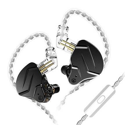 Гібридні навушники KZ ZSN Pro X з мікрофоном (Чорний), фото 2