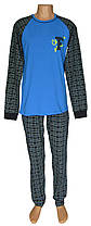 Пижама трикотажная мужская 21005 Tim коттон Бирюзовая с темно-синим