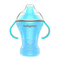 Поилка непроливайка с твердым носиком голубая 260мл (6+) BabyOno (5901435406076)