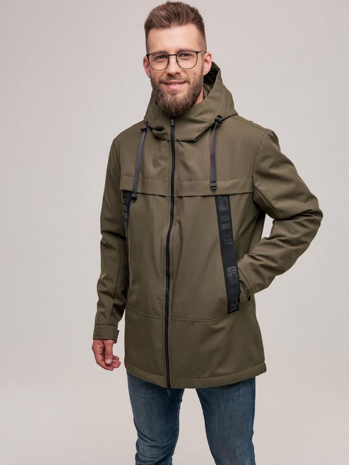 Куртка чоловіча Riccardo D-02 ХАКІ 100% поліестер 48(Р)
