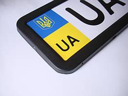 Рамка для номера номерного знака черная Vitol РН-70050