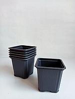 Горшок - стаканчик для рассады без перфорации 6,5 х 6,5 х 6,5 см / 0,2 л