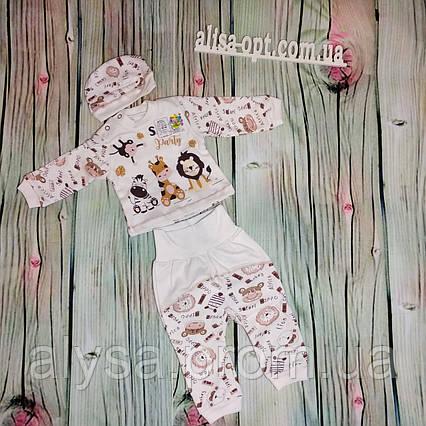 Комплект для новорожденного 422-05 Зоо интерлок