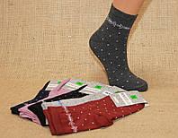 Женские носки средние компютерные MONTEBELLO   горошек и орнамент под резинкой